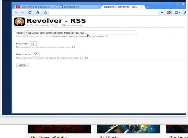 Chrome Web Store - Revolver - RSS