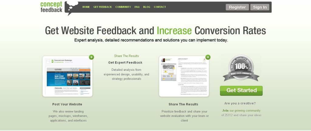 Concept Feedback Get Expert Website Feedback and Increase Conversions