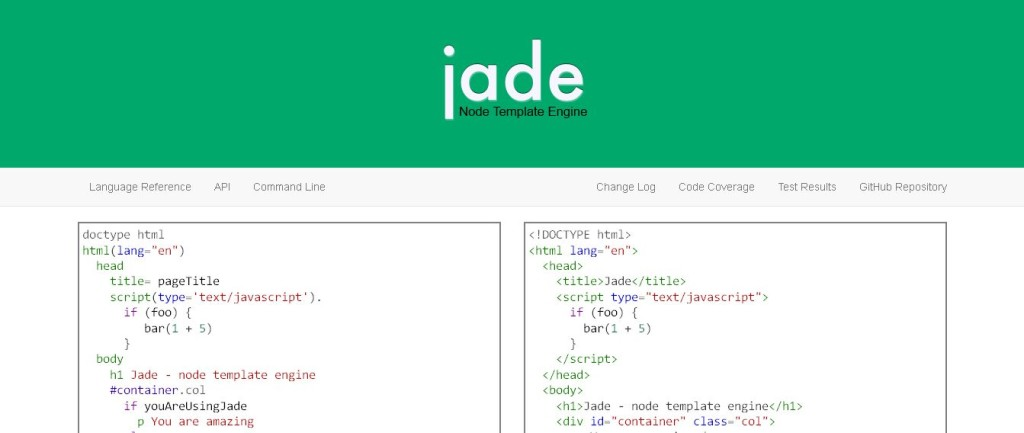 Jade - Template Engine