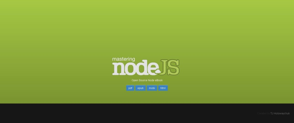 Mastering Node - Open Source Nodejs eBook