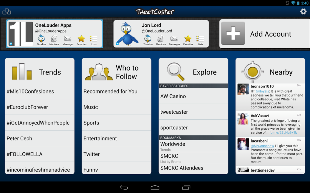 TweetCaster for Twitter App