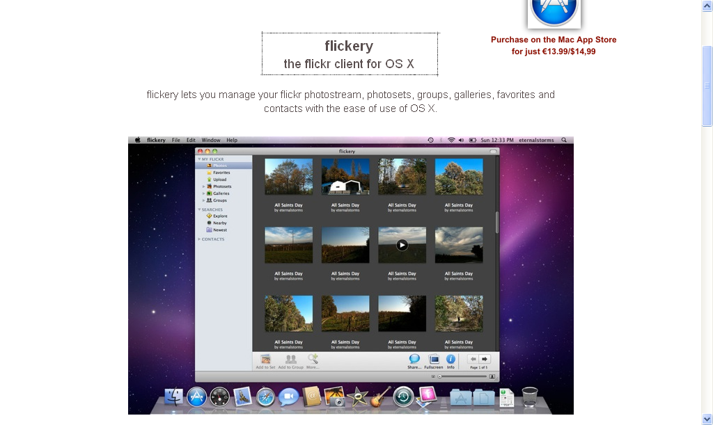 flickery - a unique flickr desktop client for Mac OS X