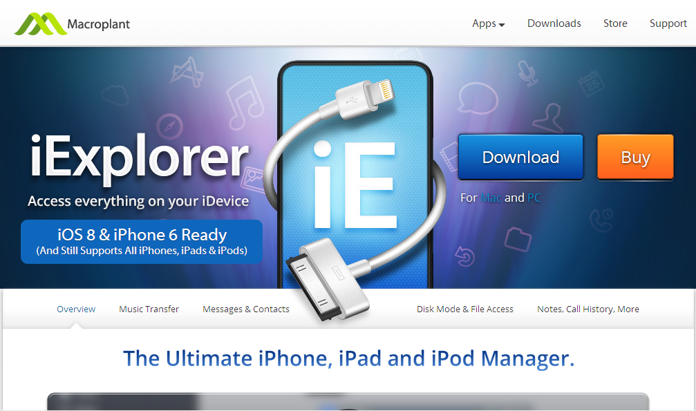 iExplorer - iPhone, iPad Music & File Transfer App for Mac & PC