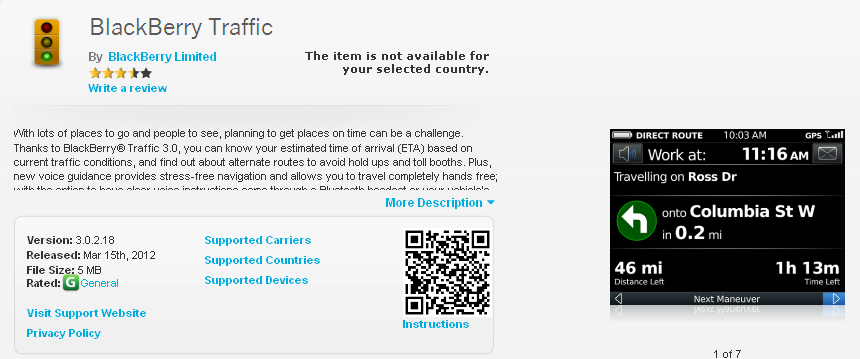 BlackBerry Traffic - BlackBerry World