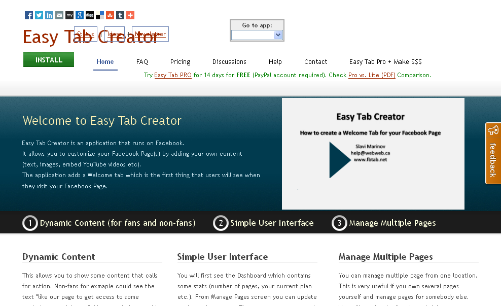 Customize your Facebook Page with Welcome Tab - Easy Tab Creator