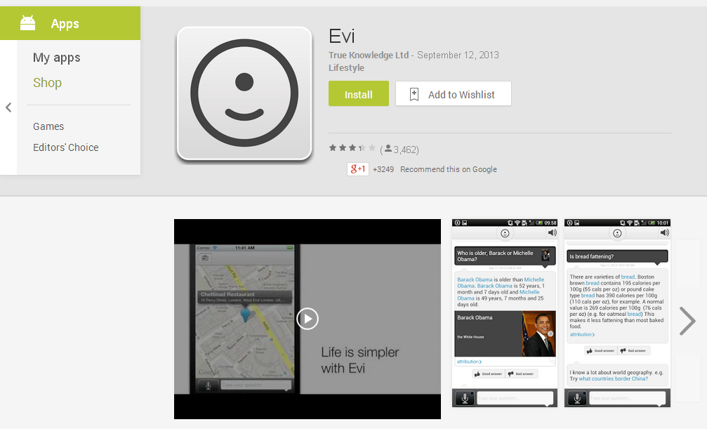 Evi - Android Apps on Google Play