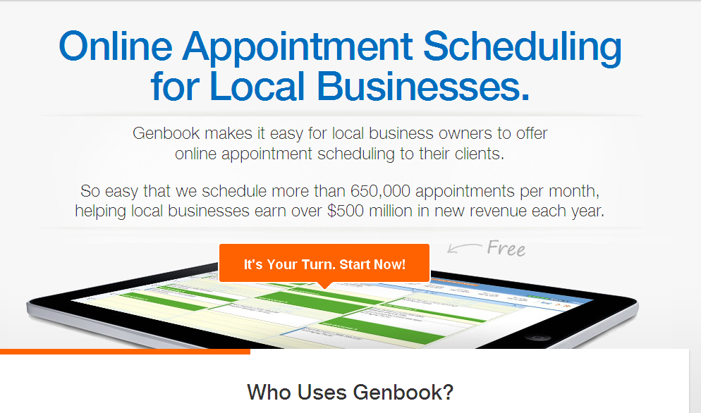 Genbook Online Scheduling Software I Appointment Scheduler I Small Business Marketing I Verified Customer Reviews I Home