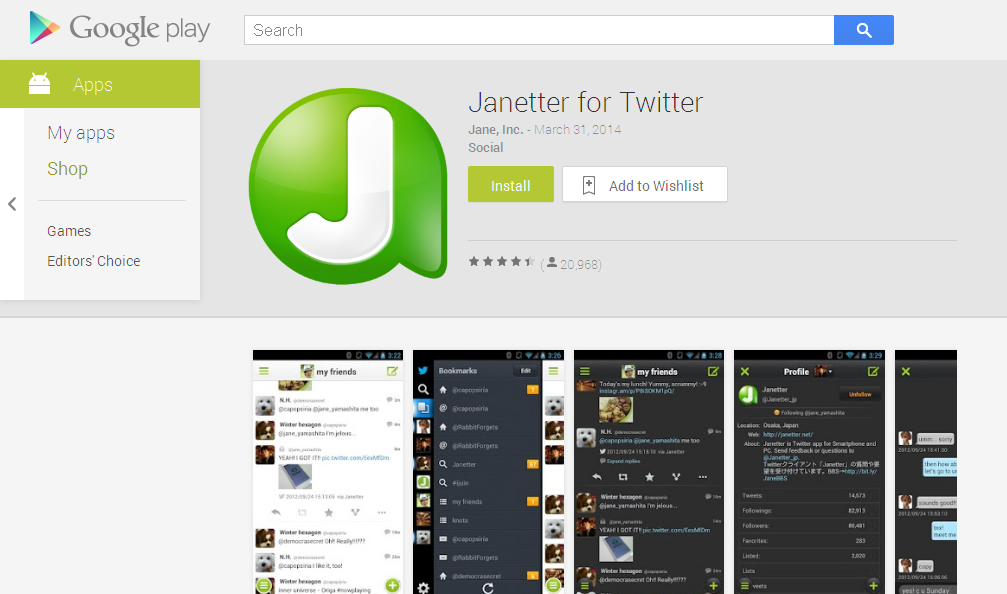 Janetter for Twitter - Android Apps on Google Play