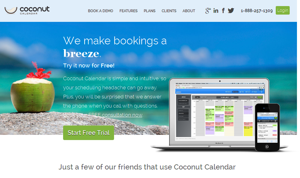 Online Appointment Scheduling and Booking CalendarI Coconut Calendar