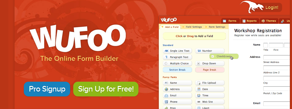 Online Form Builder with Cloud Storage Database I Wufoo