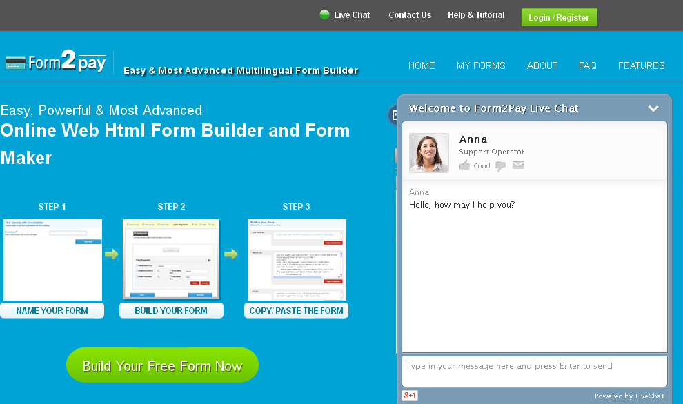 Online Web Html Form Builder and Form Maker_ Form2pay