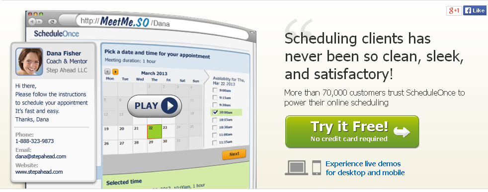 Online meeting and appointment scheduling software-scheduleonce.