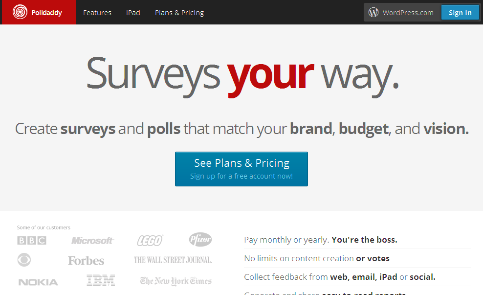 Online survey software - conduct your customer surveys and polls with Polldaddy I Polldaddy_com