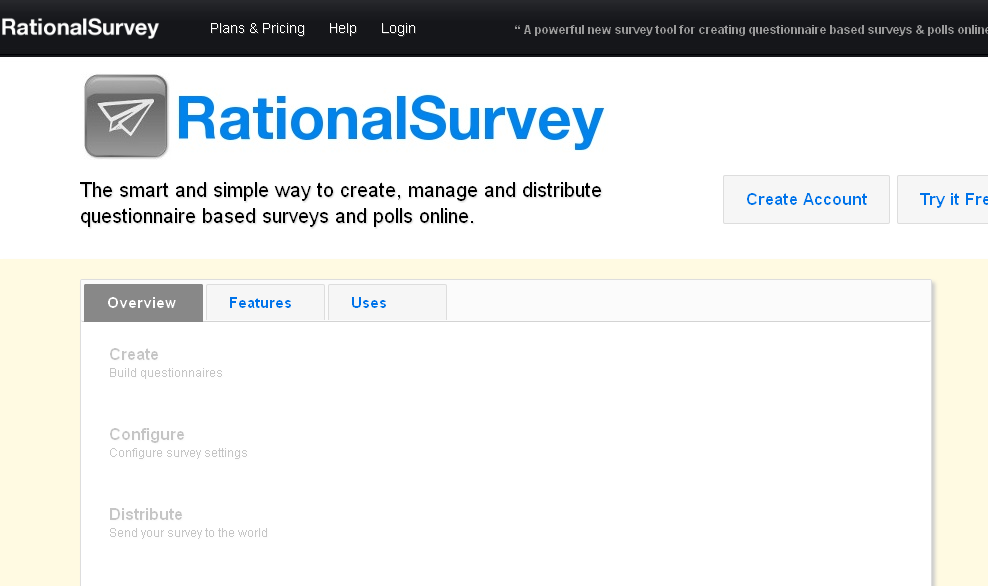 RationalSurvey - Create, manage, and distribute questionnaire based surveys and polls online!
