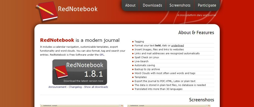 RedNotebook Free Software
