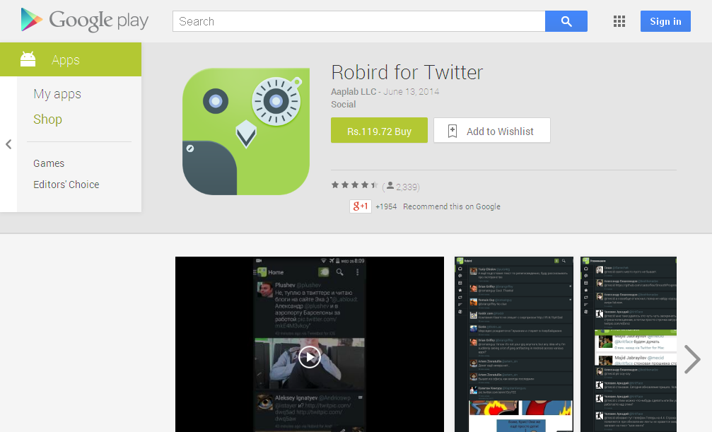 Robird for Twitter - Android Apps on Google Play