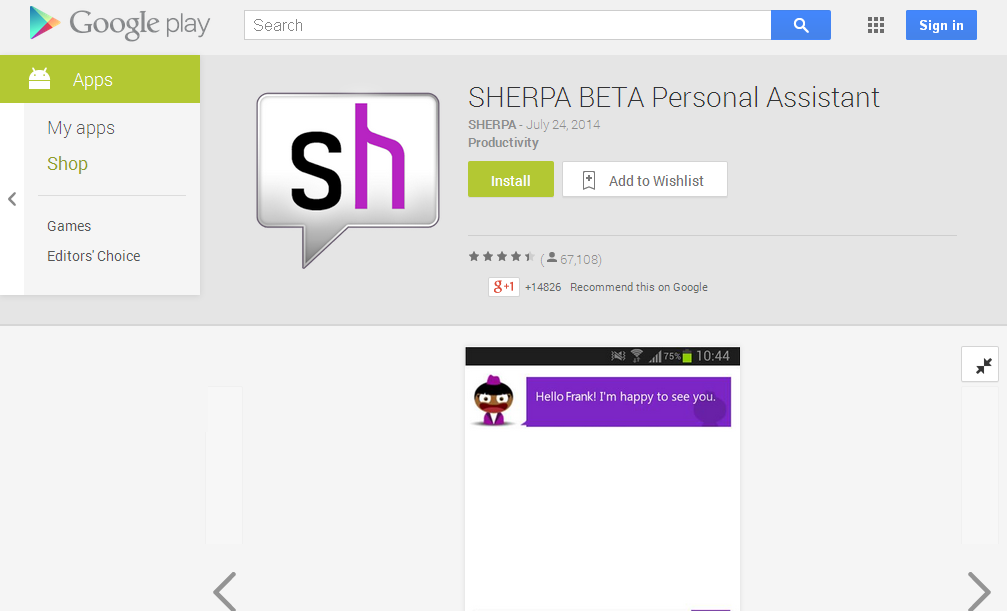 SHERPA BETA Personal Assistant - Android Apps on Google Play