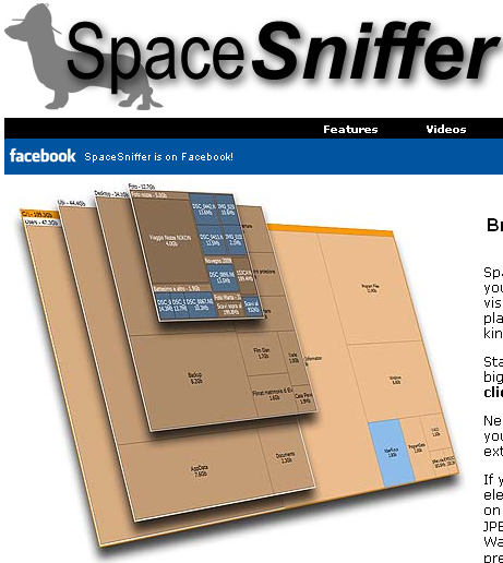 SpaceSniffer, find lost disk space the easy way
