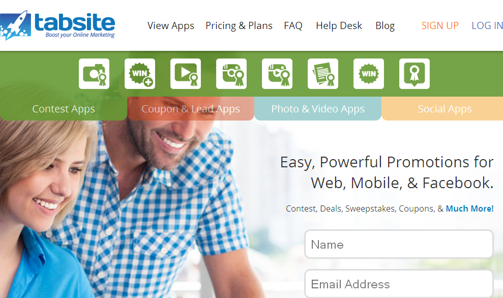 TabSite I Promotions Apps to Grow Leads and Engagement