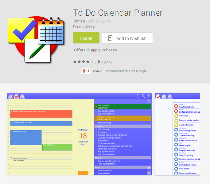 Calendar Planner Application : Top planner apps for android you should try