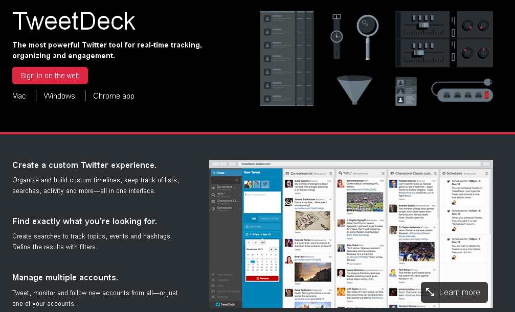 TweetDeck I About
