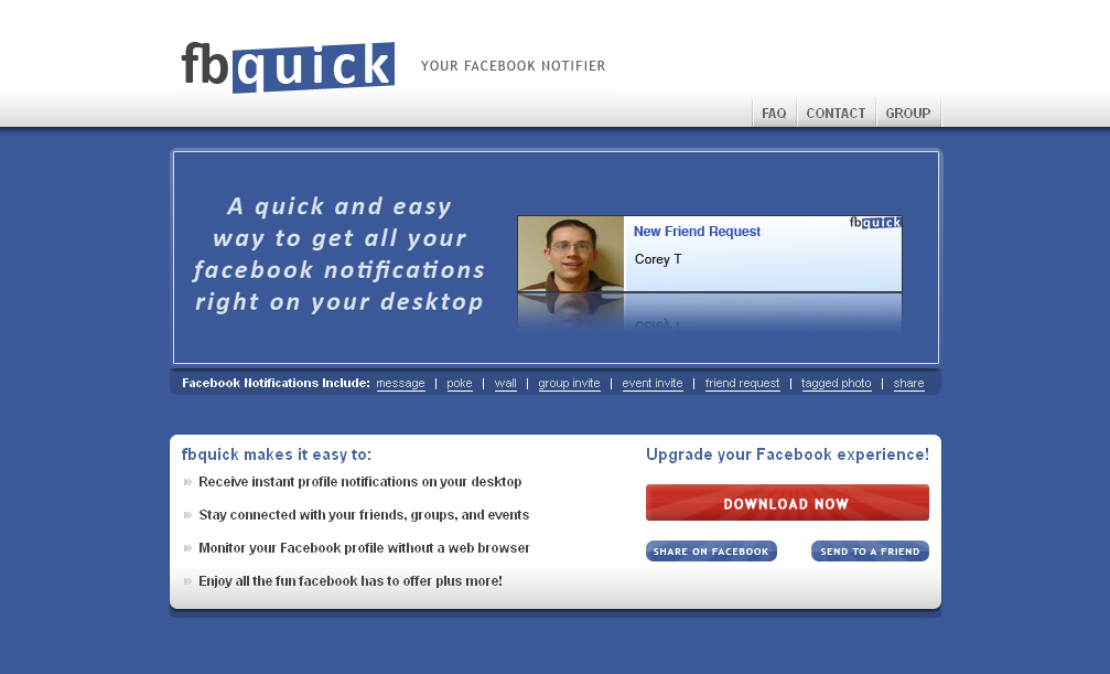 fbquick » Your Facebook Notifier