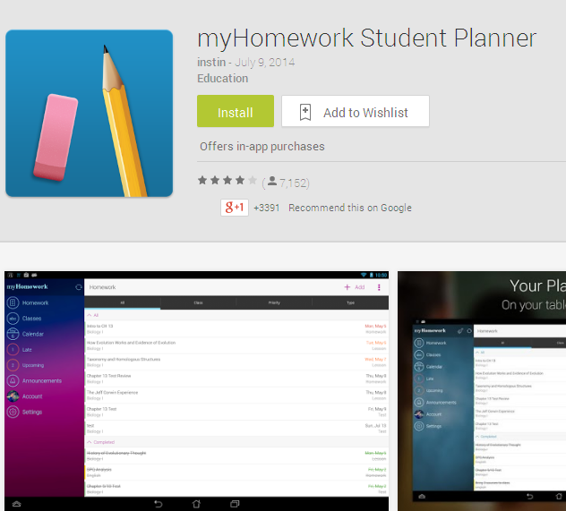 myHomework Student Planner - Android Apps on Google Play