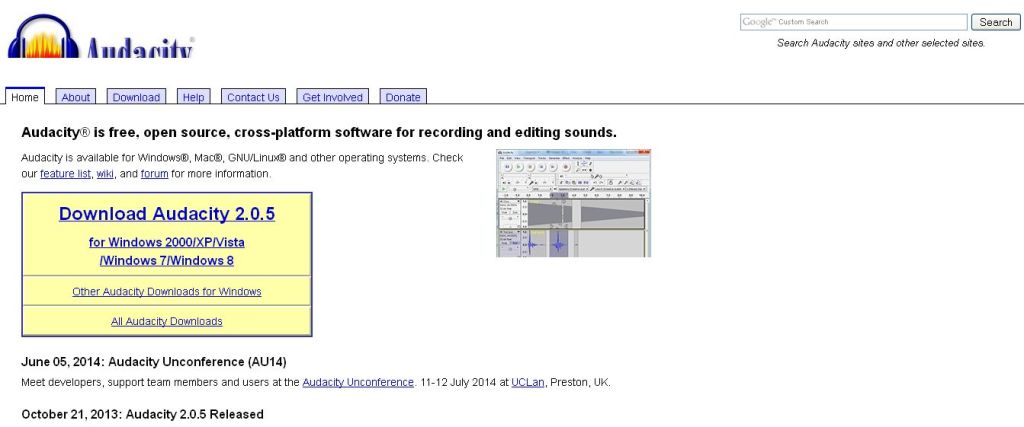 Audacity_ Free Audio Editor and Recorder
