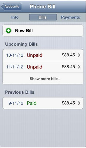 BillTracker Lite on the App Store on iTunes