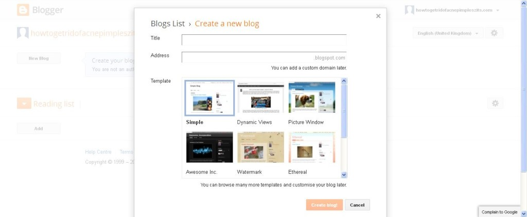Blogger_ Blogger Dashboard free