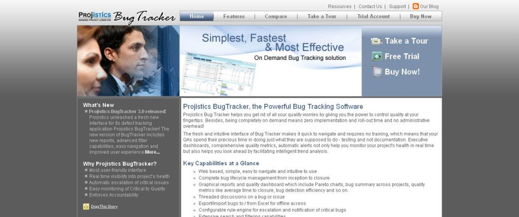 BugTracker - Bug Tracking Software And Defect Tracking Software - Projistics