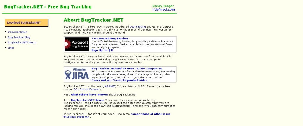 BugTracker_NET Home - Free Bug Tracking