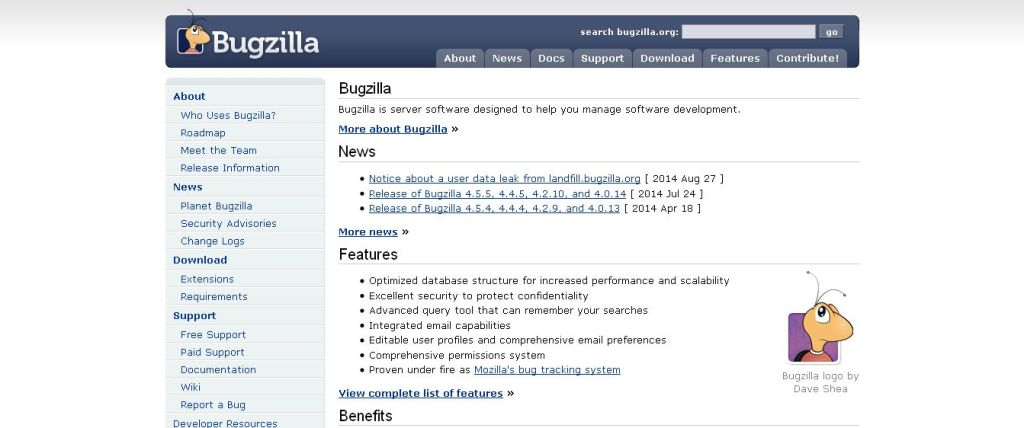 Bugzilla Tracking Software
