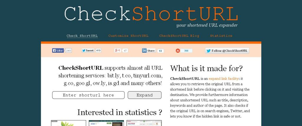 CheckShortURL - Your shortened URL expander