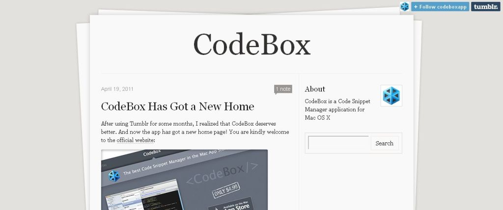 CodeBox code snippet manager