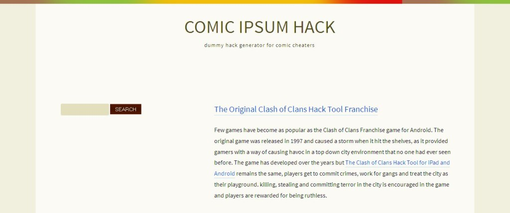 Comic Ipsum Hack I dummy hack generator for comic cheaters