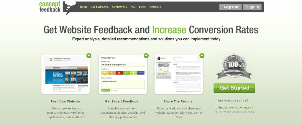 Concept Feedback I Get Expert Website Feedback and Increase Conversions