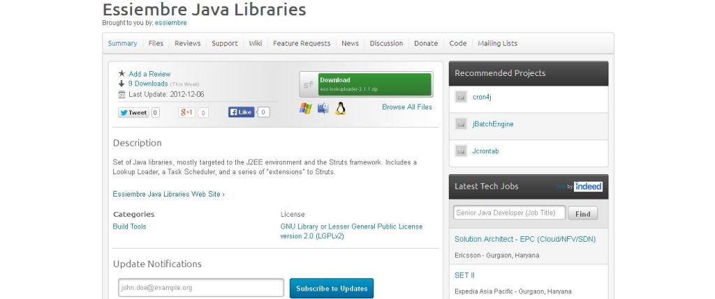 Essiembre Java Libraries I SourceForge_