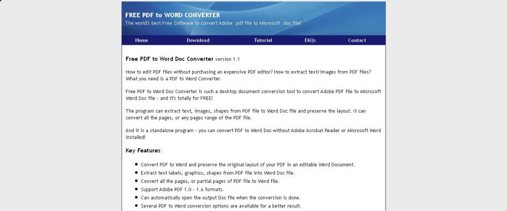 Free PDF to Word Doc Converter - easy and powerful pdf converter software
