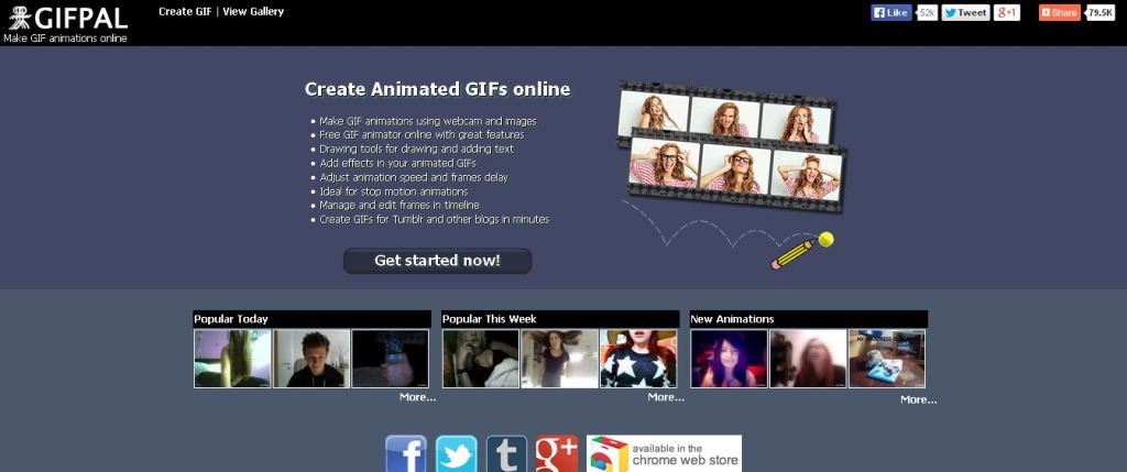 GIFPAL - Make GIF animations online with webcam and images