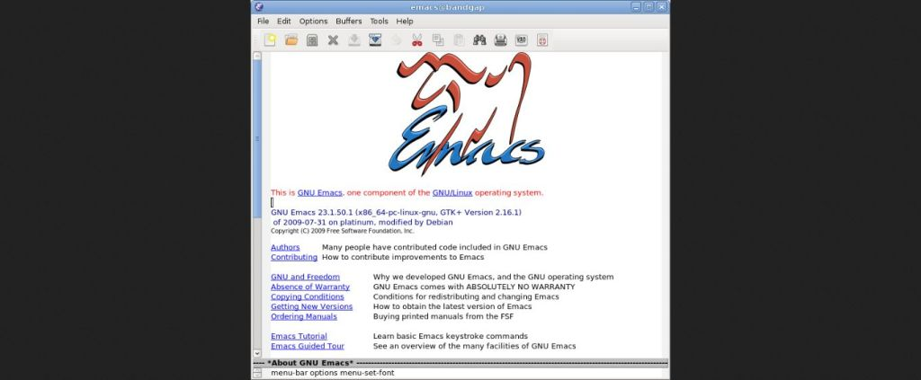 GNU Emacs - GNU Project - Free Software Foundation (FSF)