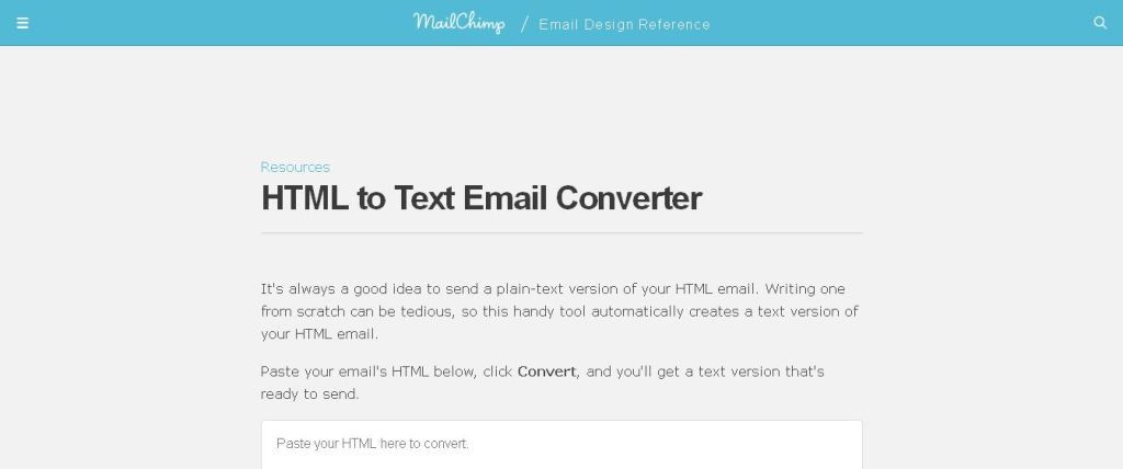 HTML to Text Email Converter I Email Design Reference