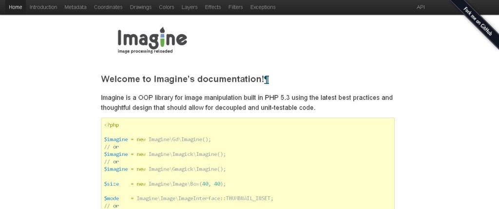 Imagines documentation Imagine, image manipulations reloaded