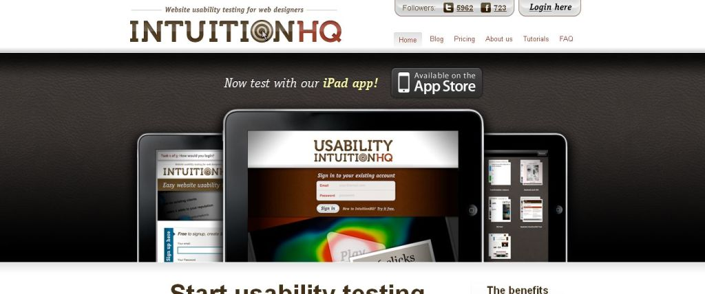 IntuitionHQ - Website Usability Testing I Overview