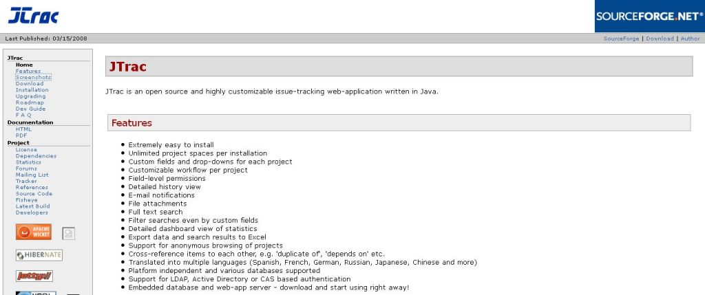 JTrac - open source and customizable issue-tracking in Java