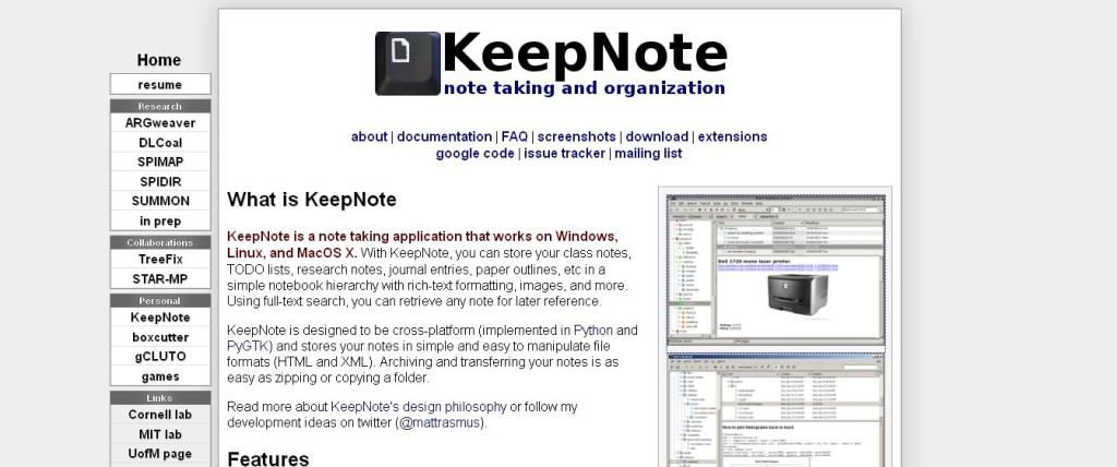 KeepNote_ Note taking and organization