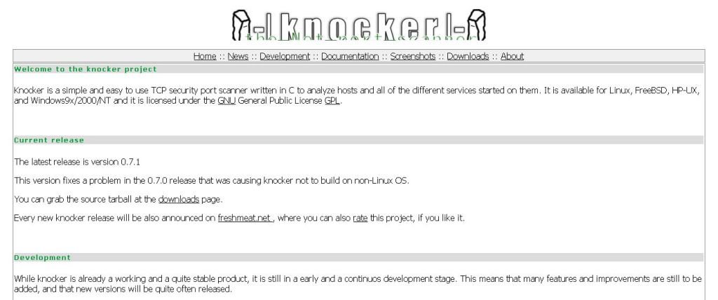 Knocker - The Net Port Scanner