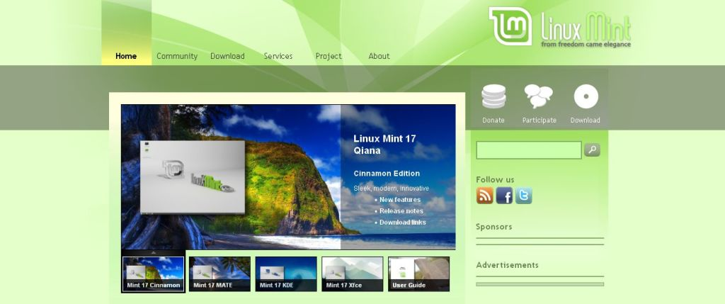 Linux Mint distribution 2014