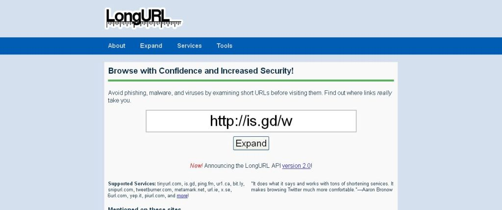 LongURL I The Universal Way to Expand Shortened URLs