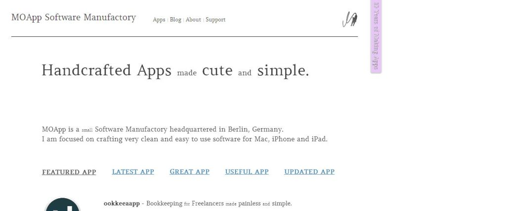 MOApp Software Manufactory - Handcrafted Apps made cute and simple
